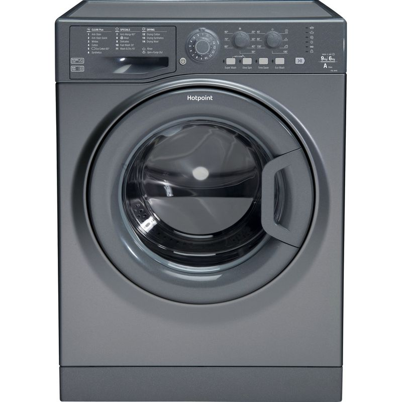Hotpoint-Washer-dryer-Free-standing-FDL-9640-G-UK-Graphite-Front-loader-Frontal