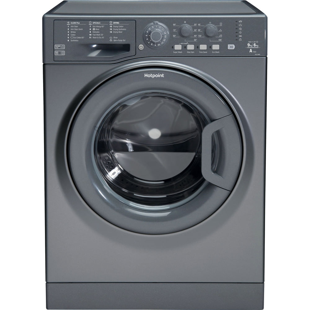 Hotpoint Freestanding Washer Dryer FDL 9640 G UK : discover the specifications of our home appliances and bring the innovation into your house and family.