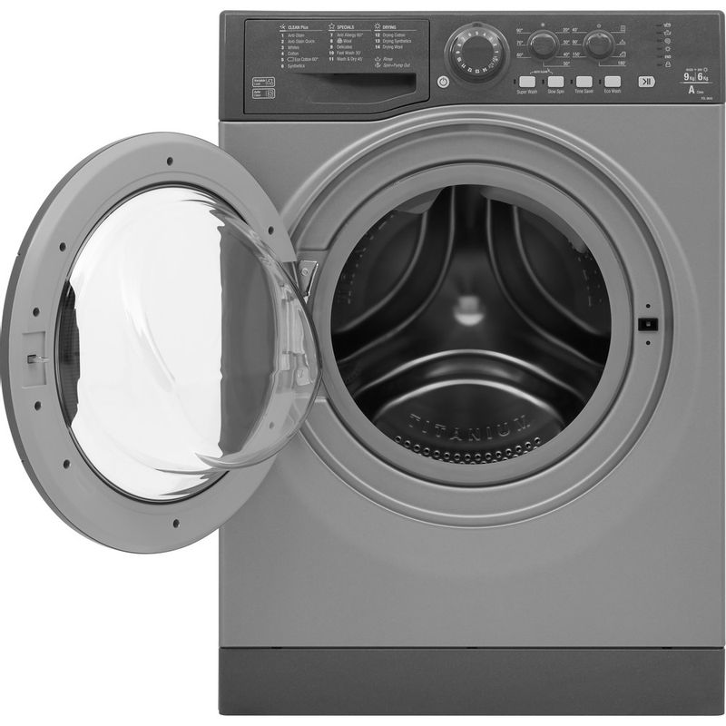 Hotpoint-Washer-dryer-Free-standing-FDL-9640-G-UK-Graphite-Front-loader-Frontal_Open