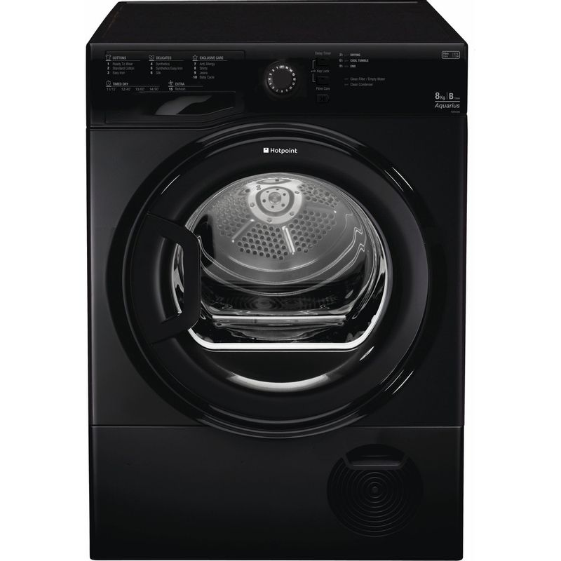 Hotpoint-Dryer-TCFS-835B-GK-UK-Black-Frontal