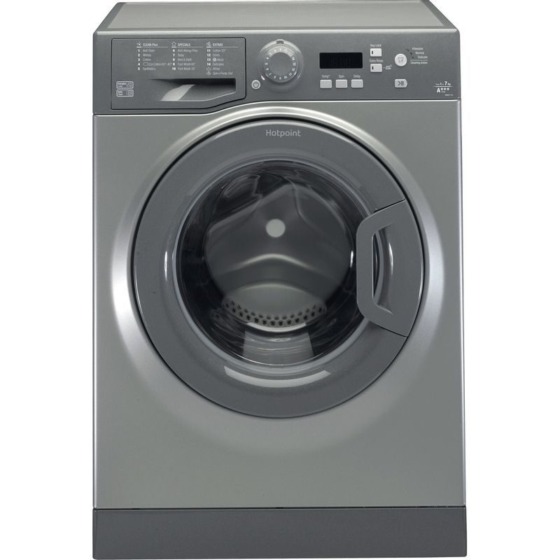 Hotpoint-Washing-machine-Free-standing-WMEUF-743G-UK-Graphite-Front-loader-A----Frontal