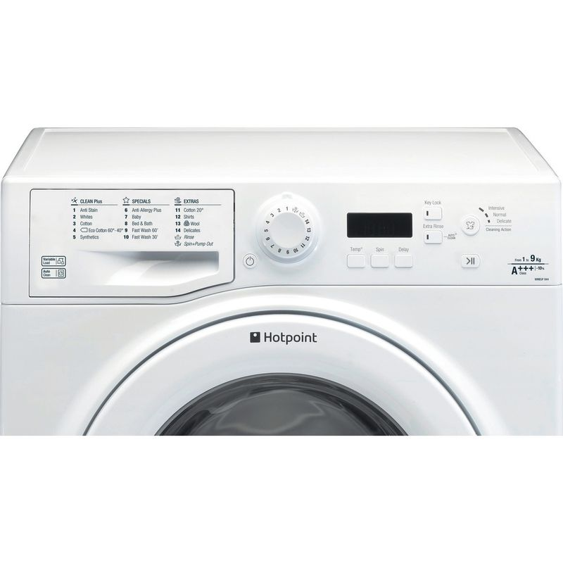 Hotpoint-Washing-machine-Free-standing-WMEUF-944P-UK-White-Front-loader-A----Control_Panel