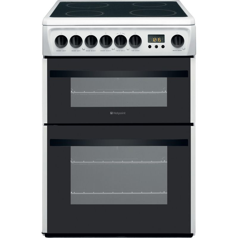 Hotpoint-Double-Cooker-DCN60P-White-B-Vitroceramic-Frontal