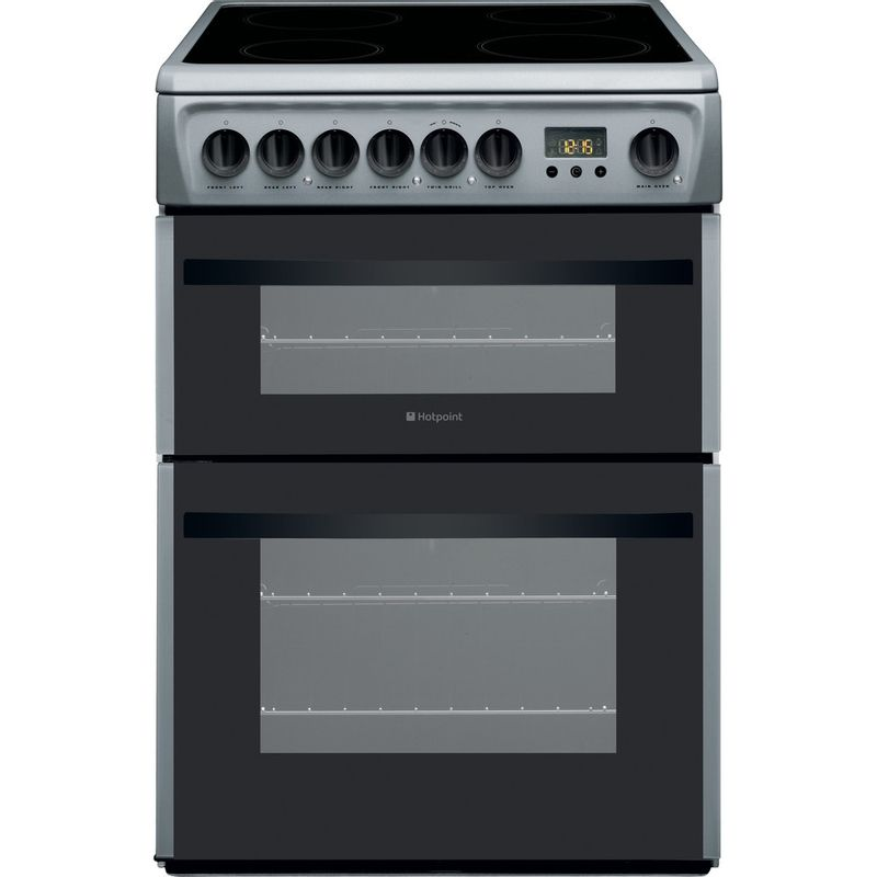 Hotpoint-Double-Cooker-DCN60S-Silver-B-Vitroceramic-Frontal