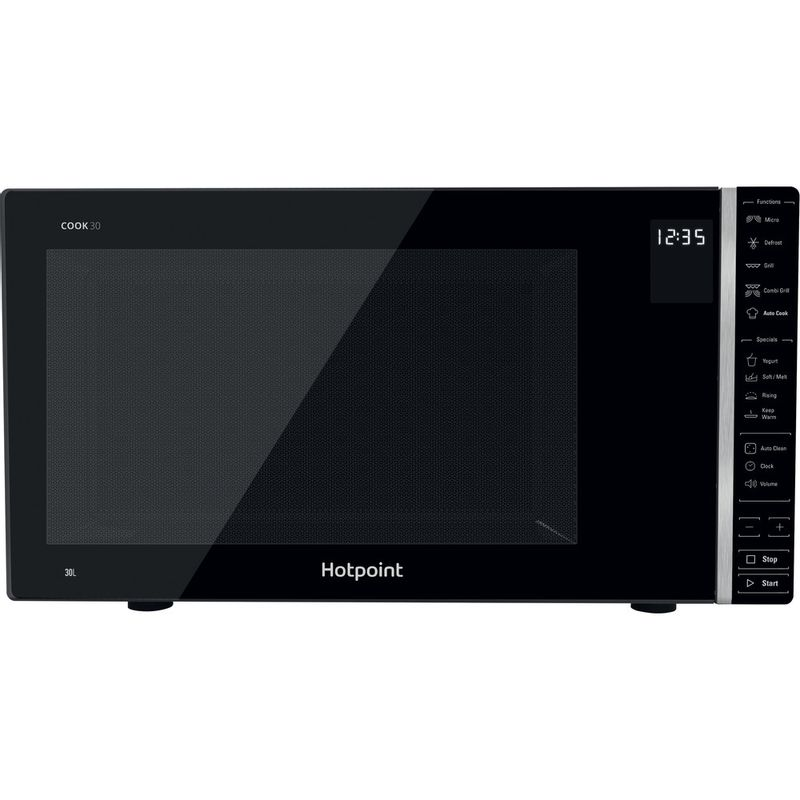 Hotpoint-Microwave-Free-standing-MWH-303-B-Black-Electronic-30-MW-Grill-function-900-Frontal
