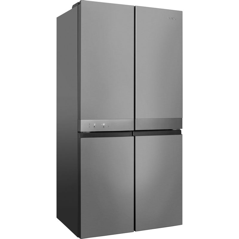 Hotpoint-Side-by-Side-Free-standing-HQ9-E1L-Inox-Look-Perspective