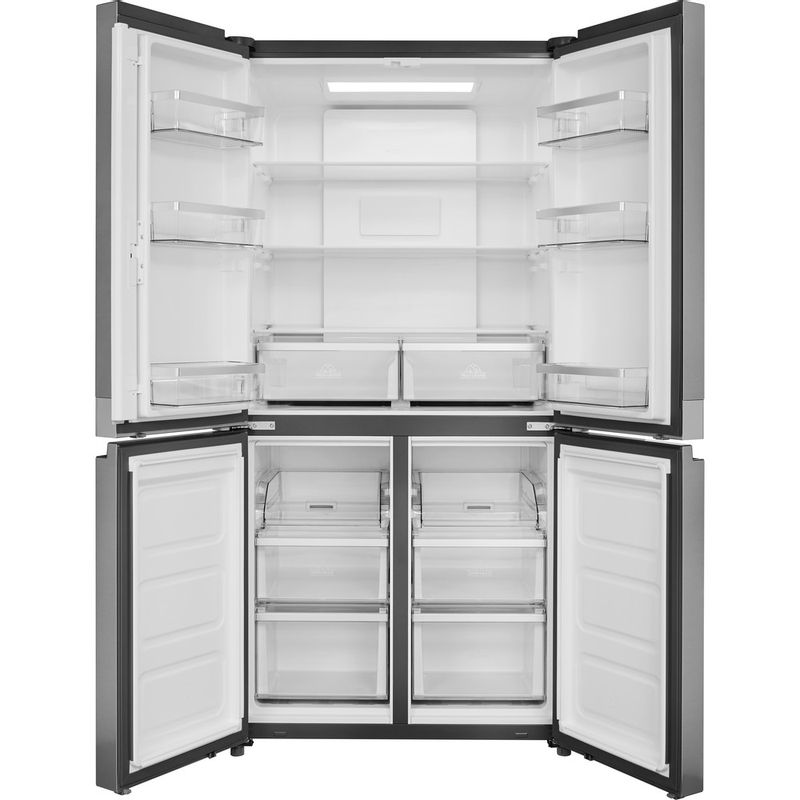 Hotpoint-Side-by-Side-Free-standing-HQ9-E1L-Inox-Look-Frontal_Open