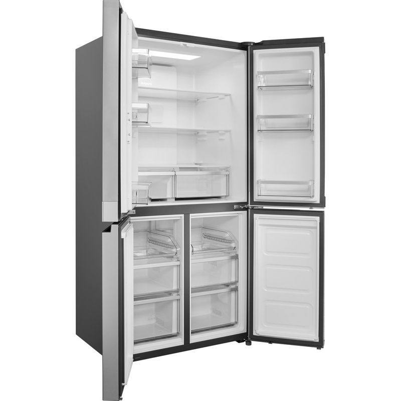 Hotpoint-Side-by-Side-Free-standing-HQ9-E1L-Inox-Look-Perspective_Open