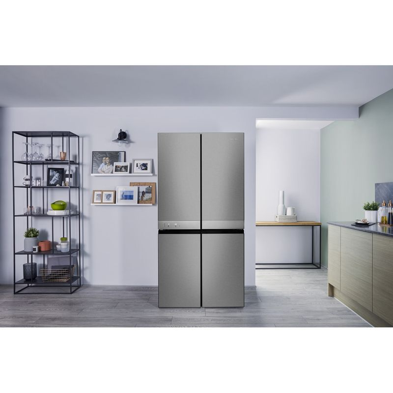 Hotpoint-Side-by-Side-Free-standing-HQ9-E1L-Inox-Look-Lifestyle_Frontal