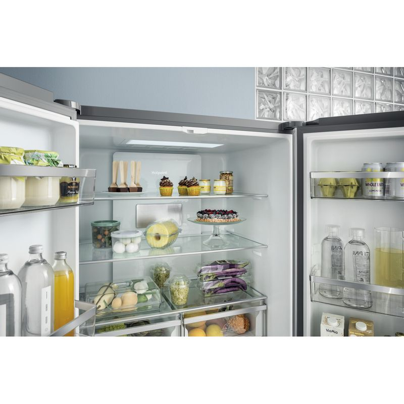 Hotpoint-Side-by-Side-Free-standing-HQ9-E1L-Inox-Look-Lifestyle_Frontal_Open