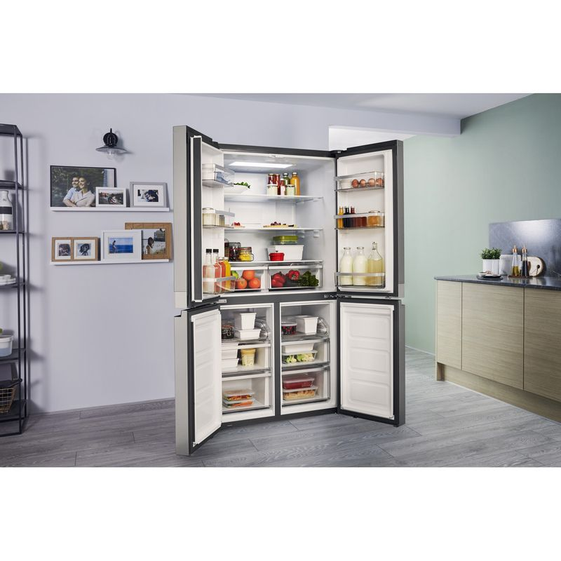 Hotpoint-Side-by-Side-Free-standing-HQ9-E1L-Inox-Look-Lifestyle_Perspective_Open