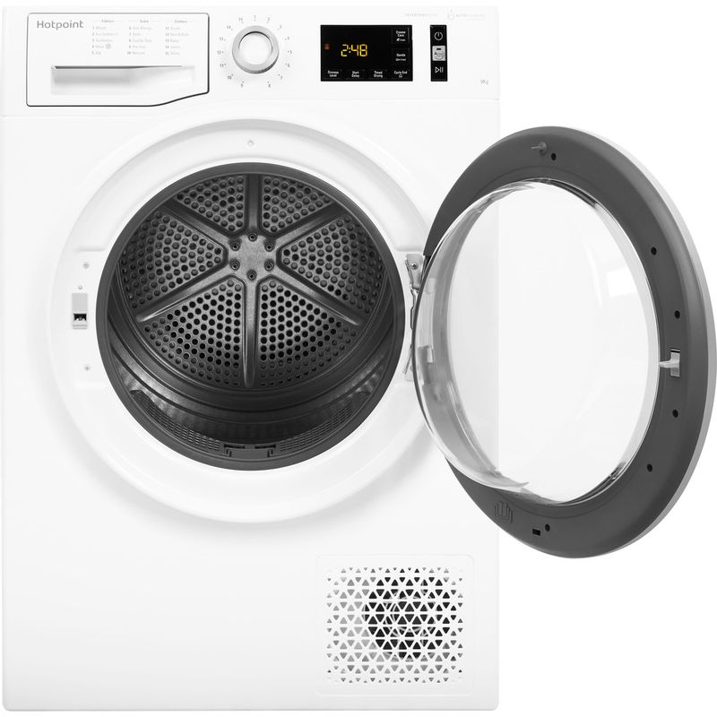 Hotpoint-Dryer-NT-M11-92XBY-UK-White-Frontal-open