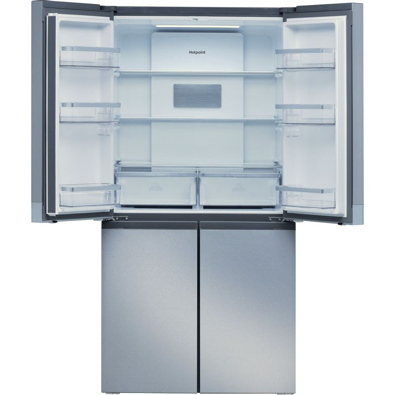 Hotpoint-Side-by-Side-Free-standing-HQ9-B1L-Inox-Look-Frontal_Open