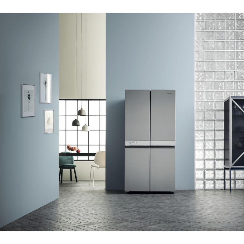 Hotpoint-Side-by-Side-Free-standing-HQ9-B1L-Inox-Look-Lifestyle_Frontal
