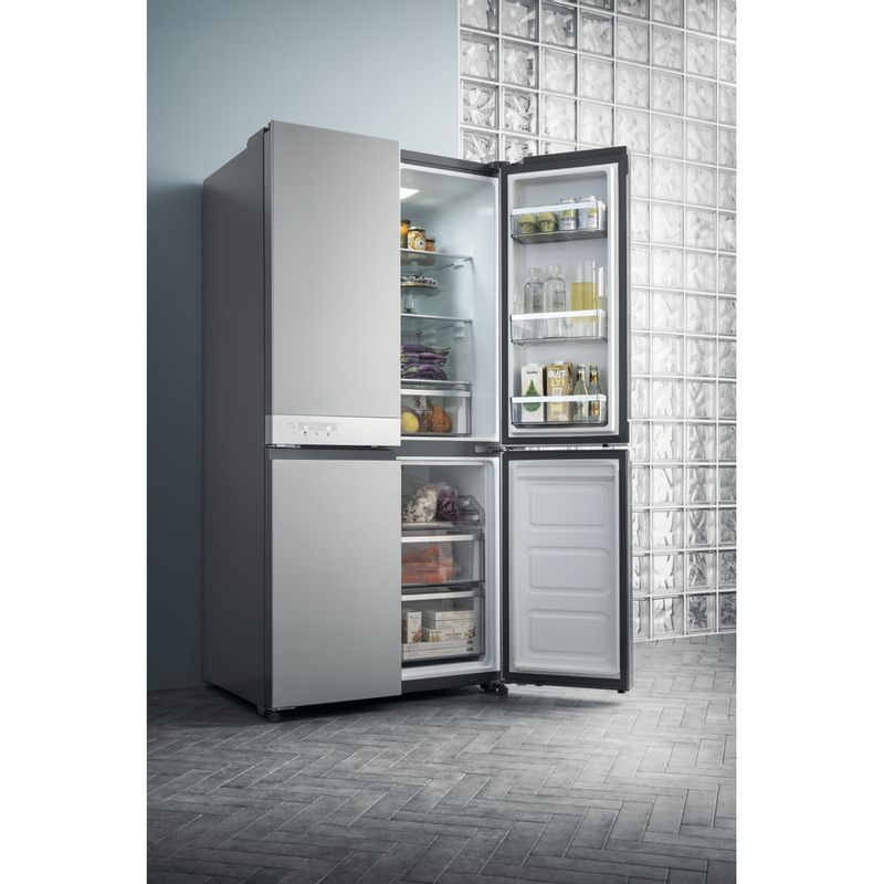 Hotpoint-Side-by-Side-Free-standing-HQ9-B1L-Inox-Look-Lifestyle_Frontal_Open