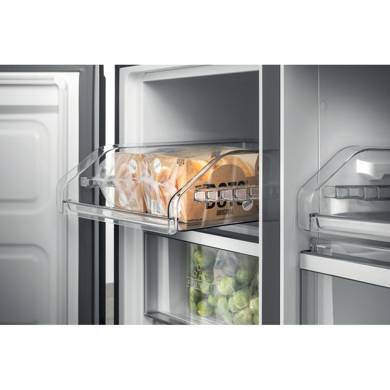 Hotpoint-Side-by-Side-Free-standing-HQ9-B1L-Inox-Look-Drawer