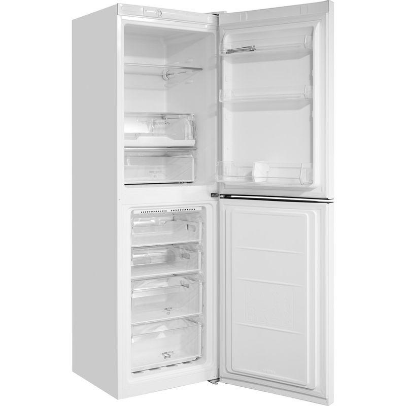 Hotpoint-Fridge-Freezer-Free-standing-DC-85-N1-W-White-2-doors-Perspective-open