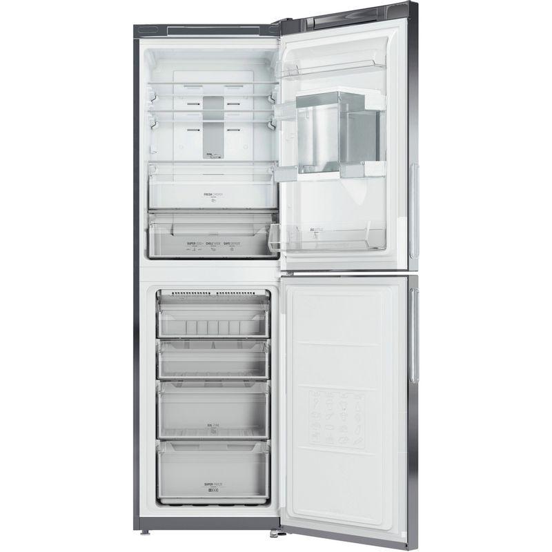 Hotpoint-Fridge-Freezer-Free-standing-TDC-85-T1I-G-WTD-Graphite-2-doors-Frontal_Open