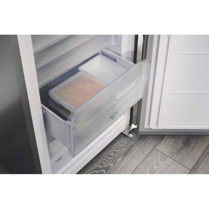 Hotpoint-Fridge-Freezer-Free-standing-TDC-85-T1I-G-WTD-Graphite-2-doors-Drawer