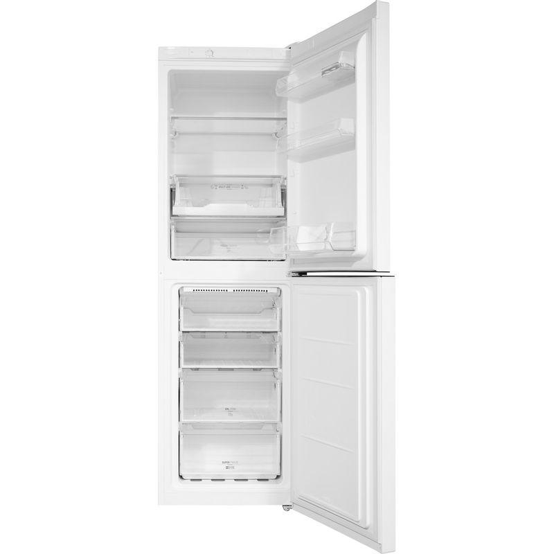 Hotpoint-Fridge-Freezer-Free-standing-DC-85-N1-W-White-2-doors-Frontal-open