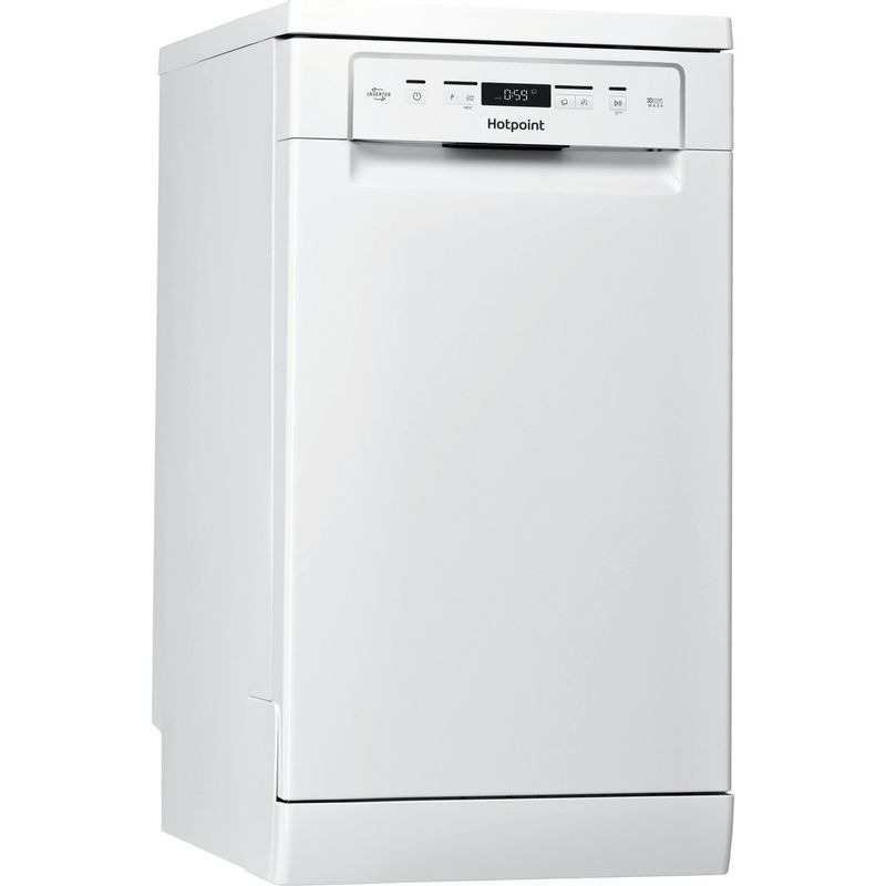 Hotpoint-Dishwasher-Free-standing-HSFC-3M19-C-UK-Free-standing-F-Perspective