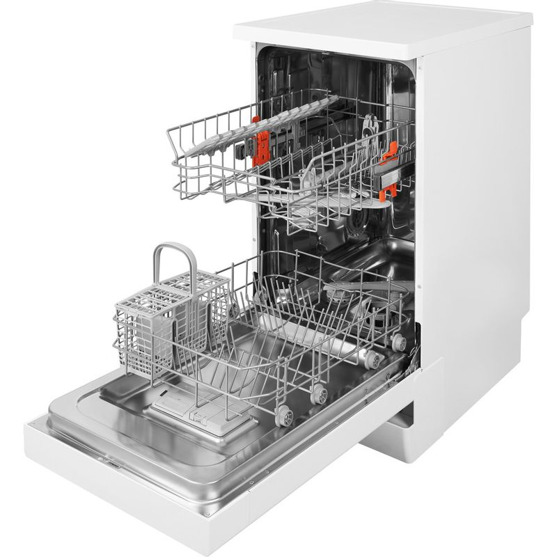 Hotpoint-Dishwasher-Free-standing-HSFE-1B19-UK-Free-standing-A--Perspective-open