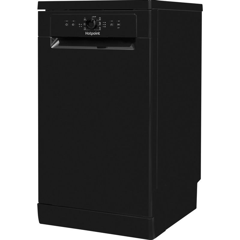 Hotpoint-Dishwasher-Free-standing-HSFE-1B19-B-UK-Free-standing-F-Perspective