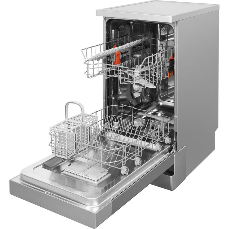 Hotpoint-Dishwasher-Free-standing-HSFE-1B19-S-UK-Free-standing-F-Perspective-open