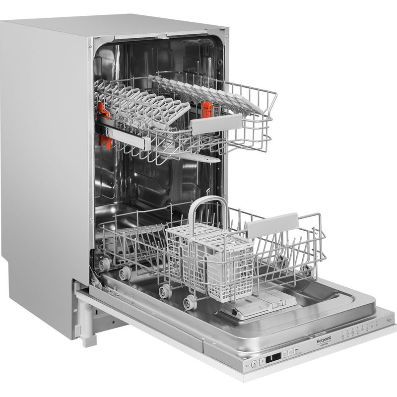 Hotpoint-Dishwasher-Built-in-HSIC-3T127-UK-Full-integrated-A---Perspective_Open