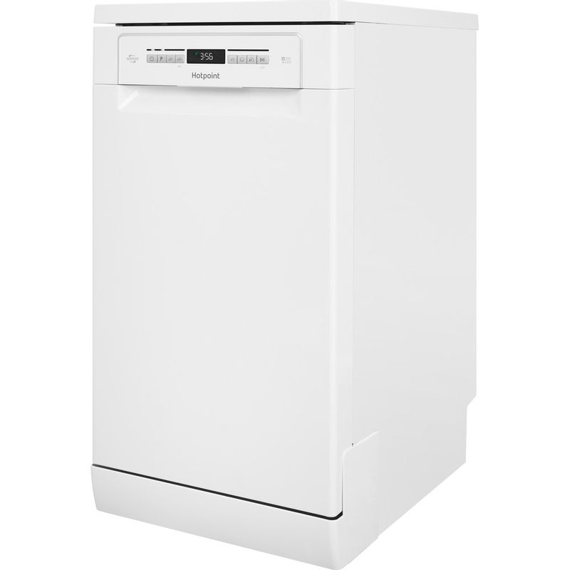 Hotpoint-Dishwasher-Free-standing-HSFO-3T223-W-UK-Free-standing-A---Perspective