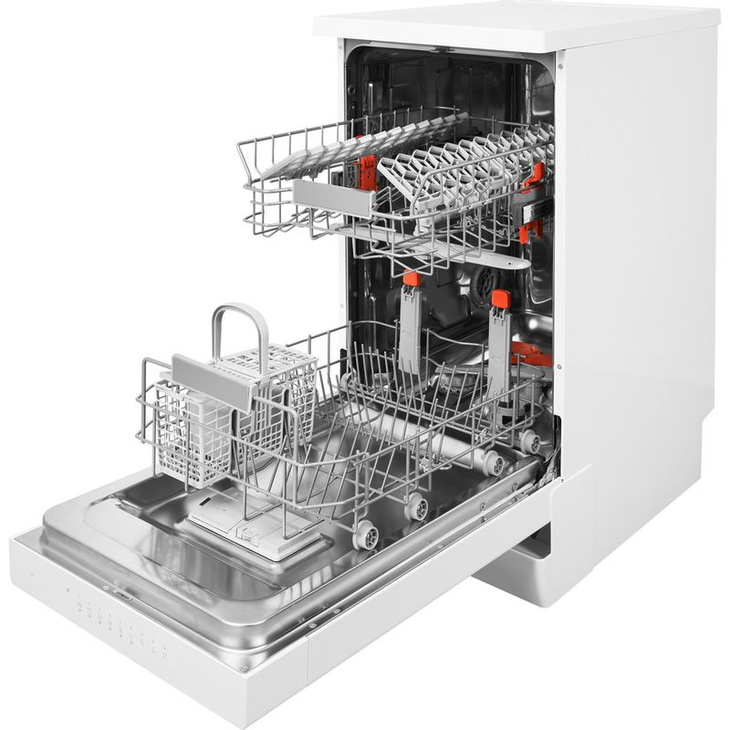 Hotpoint-Dishwasher-Free-standing-HSFO-3T223-W-UK-Free-standing-A---Perspective_Open
