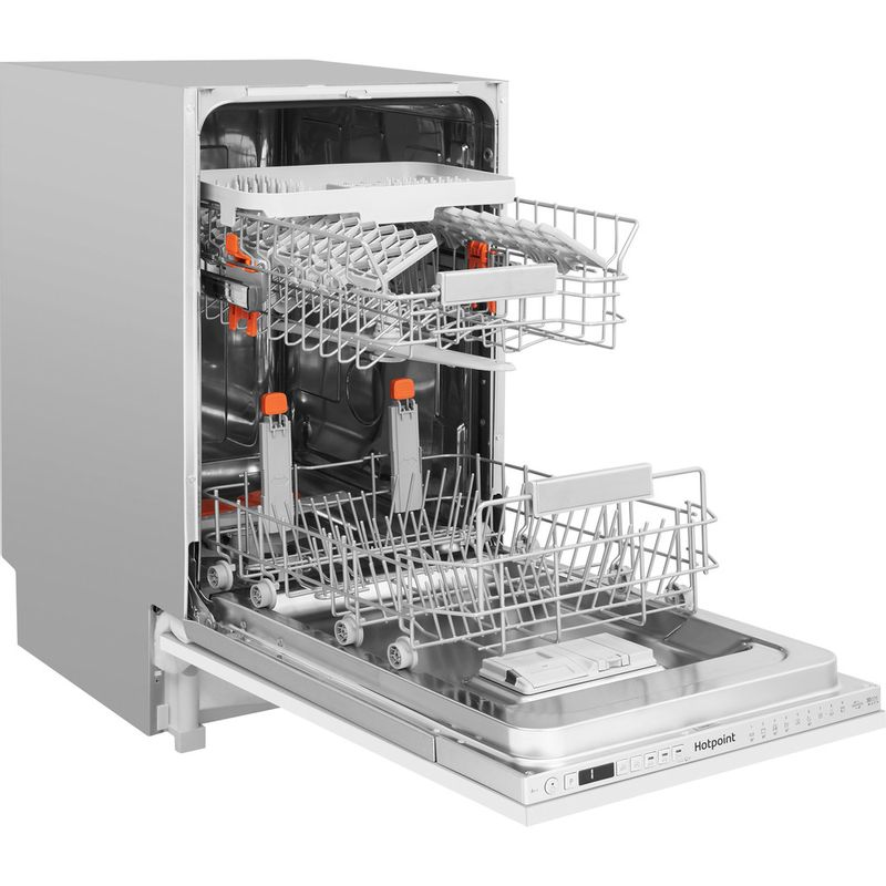 Hotpoint-Dishwasher-Built-in-HSIO-3T223-WCE-UK-Full-integrated-A---Perspective-open
