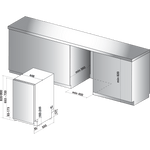 Hotpoint-Dishwasher-Built-in-HSIO-3T223-WCE-UK-Full-integrated-A---Technical-drawing
