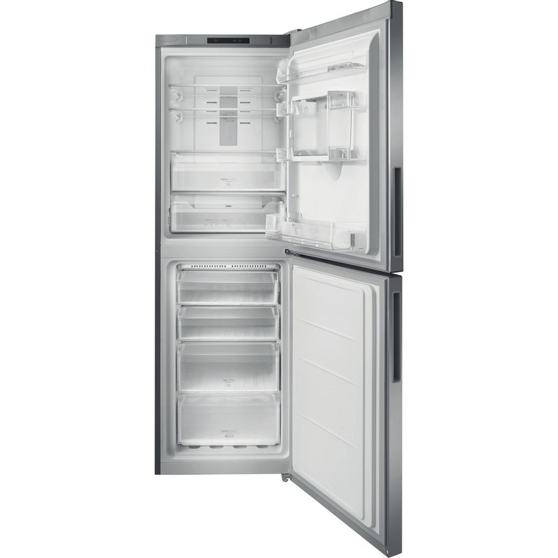 Hotpoint-Fridge-Freezer-Free-standing-XAL85-T1I-G-WTD.1-Graphite-2-doors-Frontal-open