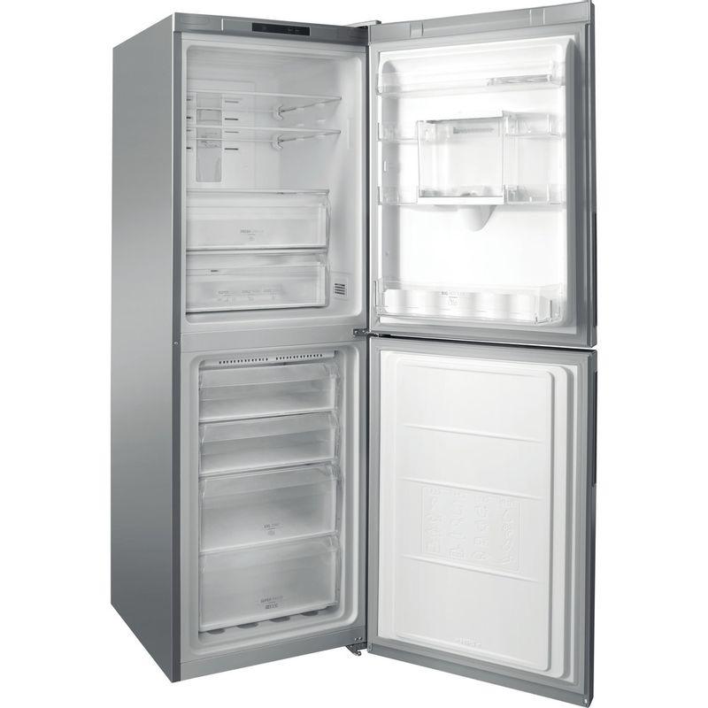 Hotpoint-Fridge-Freezer-Free-standing-XAL85-T1I-G-WTD.1-Graphite-2-doors-Perspective-open