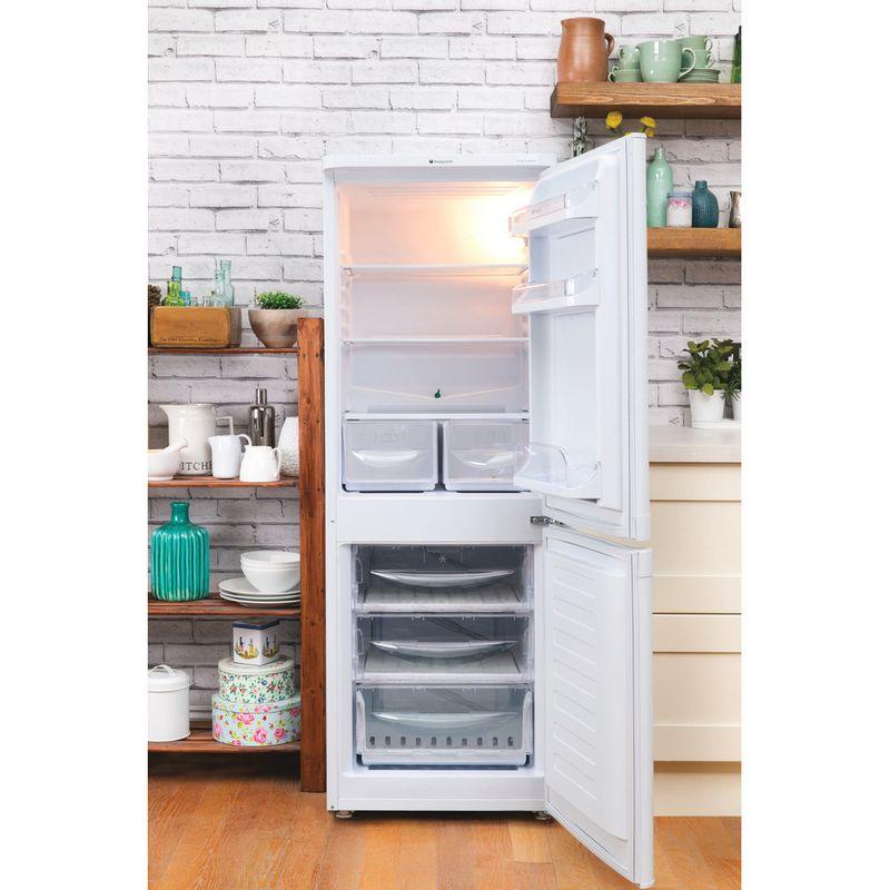 Hotpoint-Fridge-Freezer-Free-standing-HBD-5515-W-UK-White-2-doors-Lifestyle_Frontal_Open