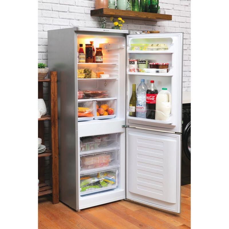 Hotpoint-Fridge-Freezer-Free-standing-HBD-5515-S-UK-Silver-2-doors-Lifestyle_Perspective_Open