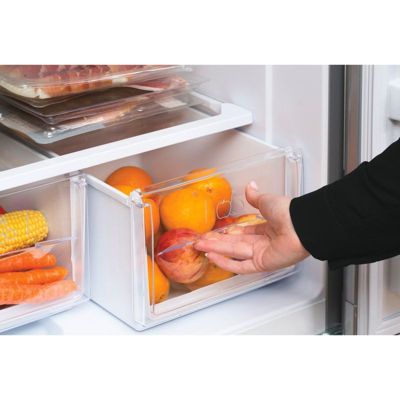 Hotpoint-Fridge-Freezer-Free-standing-HBD-5515-S-UK-Silver-2-doors-Drawer