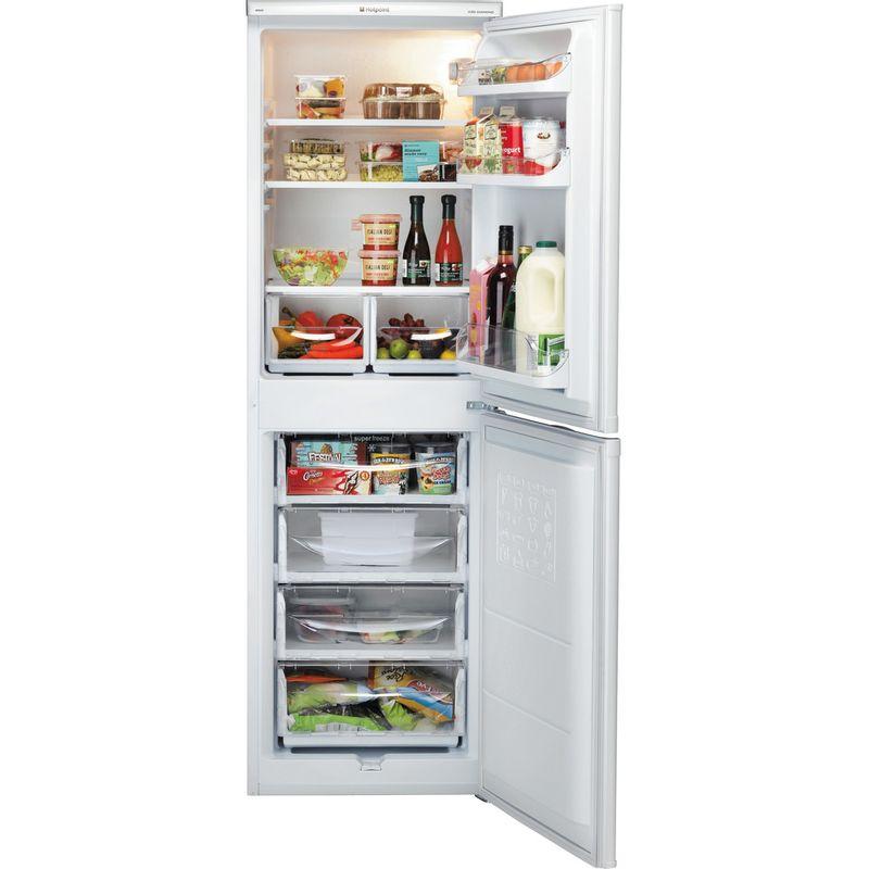 Hotpoint-Fridge-Freezer-Free-standing-HBD-5517-W-UK-White-2-doors-Frontal-open