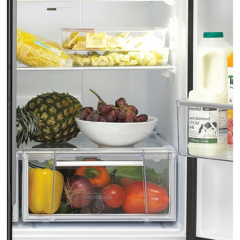 Hotpoint-Fridge-Freezer-Free-standing-FFU4D.1-K-Black-2-doors-Drawer