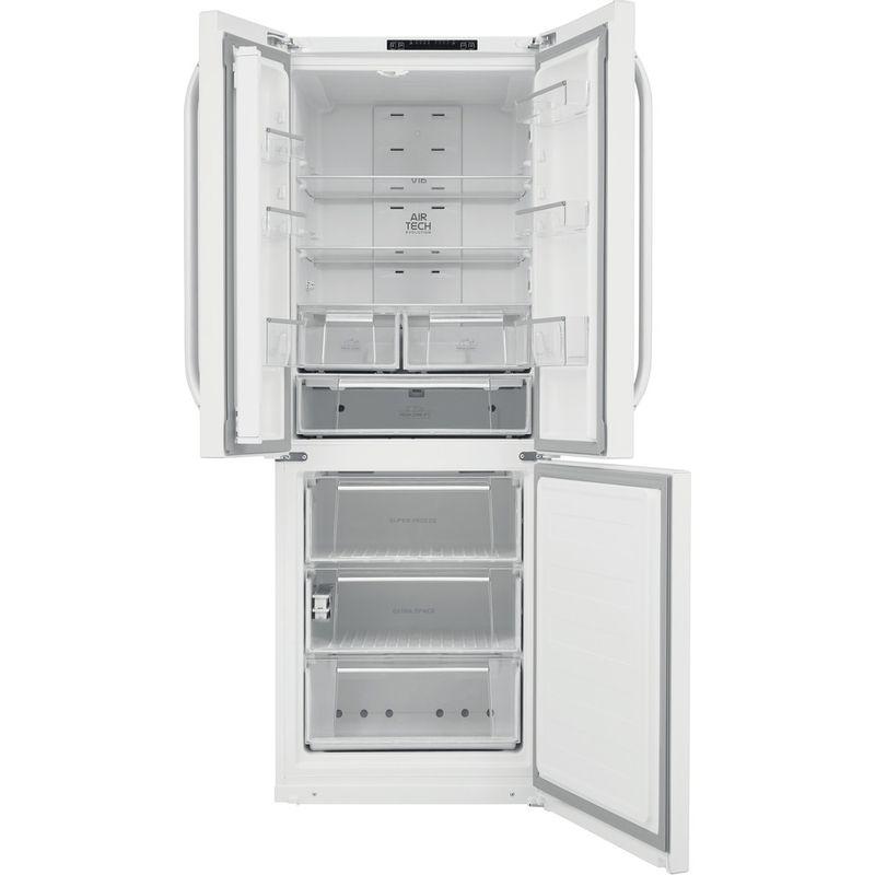 Hotpoint-Fridge-Freezer-Free-standing-FFU3D.1-W-White-2-doors-Frontal-open