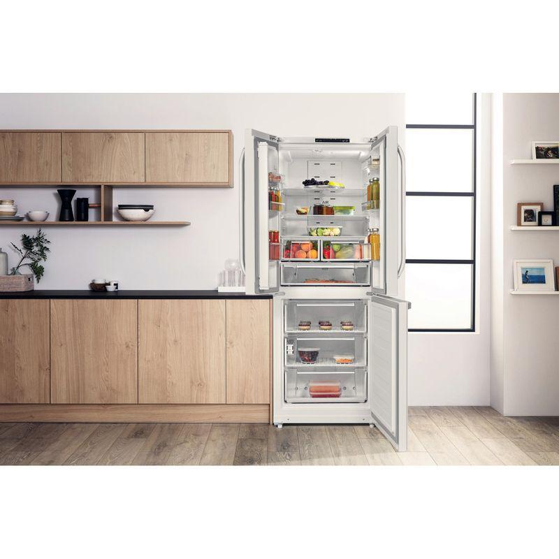 Hotpoint-Fridge-Freezer-Free-standing-FFU3D.1-W-White-2-doors-Lifestyle-frontal-open
