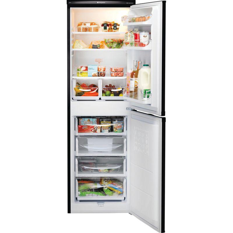 Hotpoint-Fridge-Freezer-Free-standing-HBD-5517-B-UK-Black-2-doors-Frontal_Open