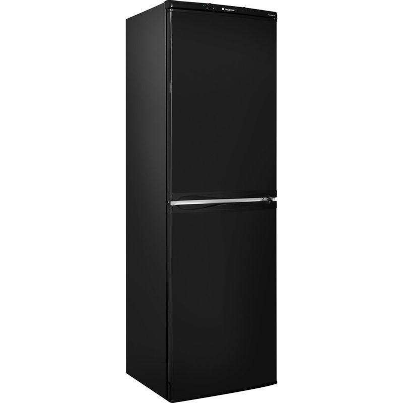 Hotpoint-Fridge-Freezer-Free-standing-HBNF-5517-B-UK-Black-2-doors-Perspective