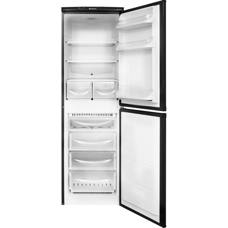 Hotpoint-Fridge-Freezer-Free-standing-HBNF-5517-B-UK-Black-2-doors-Frontal-open