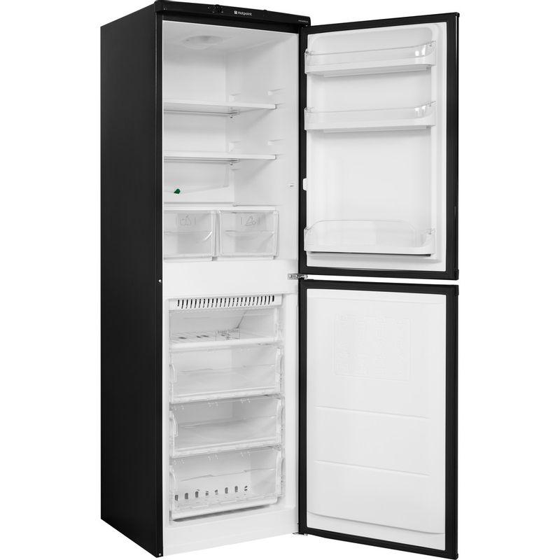 Hotpoint-Fridge-Freezer-Free-standing-HBNF-5517-B-UK-Black-2-doors-Perspective-open