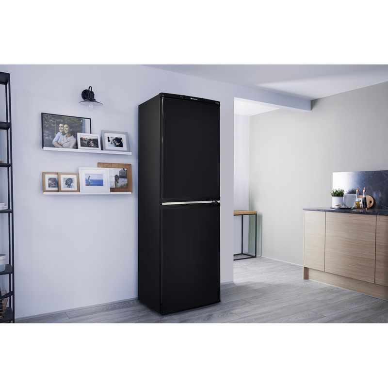 Hotpoint-Fridge-Freezer-Free-standing-HBNF-5517-B-UK-Black-2-doors-Lifestyle-perspective