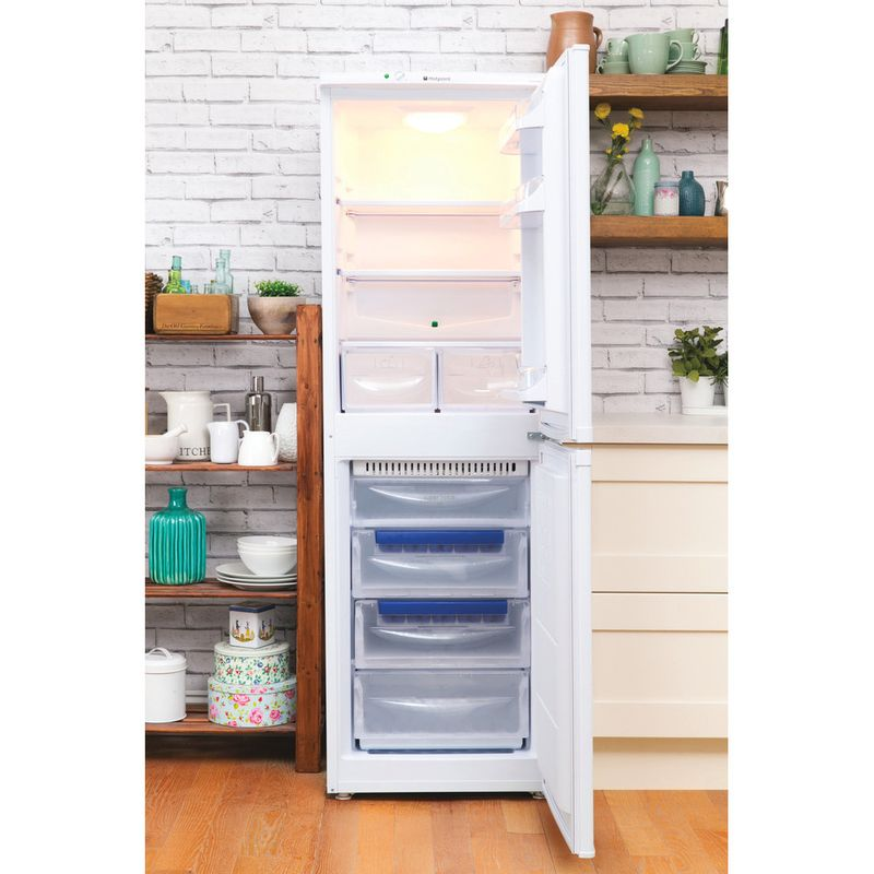 Hotpoint-Fridge-Freezer-Free-standing-HBNF-5517-W-UK-White-2-doors-Lifestyle-frontal-open