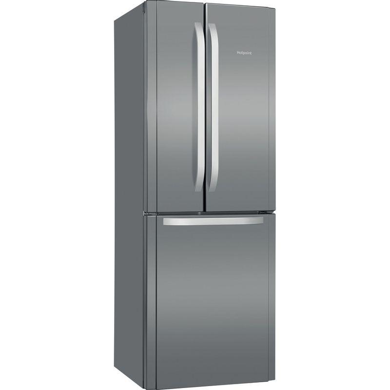 Hotpoint-Fridge-Freezer-Free-standing-FFU3D.1-X-Inox-2-doors-Perspective