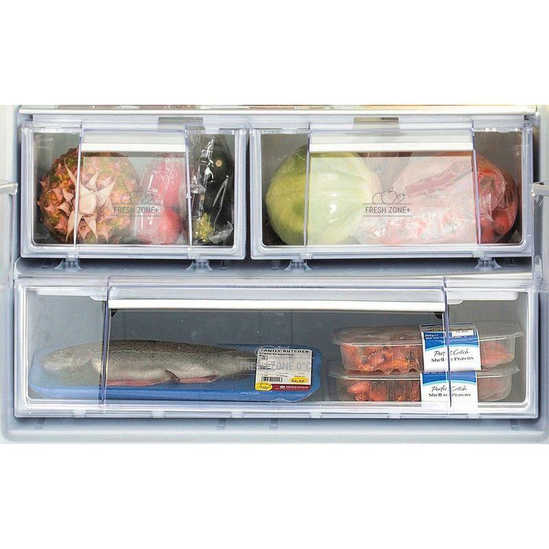 Hotpoint-Fridge-Freezer-Free-standing-FFU3D.1-X-Inox-2-doors-Drawer